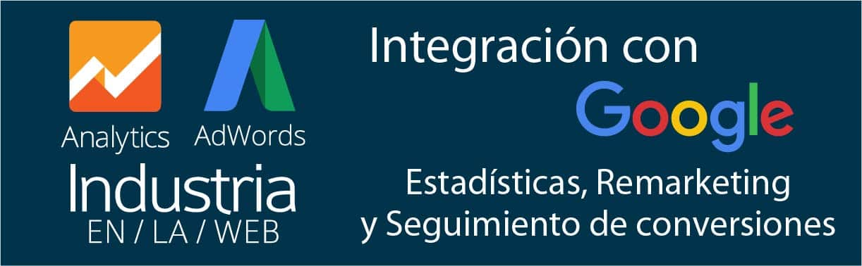 Landing Pages con integracion con Google Analytics y Adwords seguimiento conversiones y remarketing